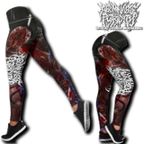 Official Abominable Putridity The Anomalies Of Artificial Origin Leggings - Crowdkill Apparel Death Metal Deathcore Hardcore Slam Merchandise