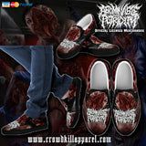 Official Abominable Putridity The Anomalies Of Artificial Origin Slip Ons - Crowdkill Apparel Death Metal Deathcore Hardcore Slam Merchandise