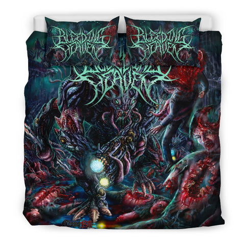 Official Bleeding Heaven Evolutionary Descendant of Brutality Bedset - Crowdkill Apparel Death Metal Deathcore Hardcore Slam Merchandise