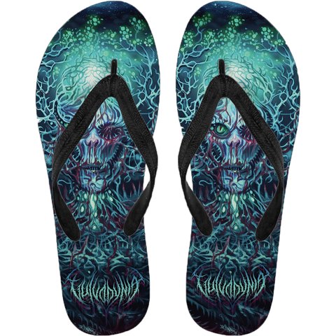 Official Vulvodynia Cognizant Castigation Flip Flops - Crowdkill Apparel