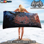 Official Acranius Reign Of Terror Beach Towel - Crowdkill Apparel Death Metal Deathcore Hardcore Slam Merchandise