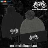 Official Acranius Logo Pom Pom Beanie - Crowdkill Apparel Death Metal Deathcore Hardcore Slam Merchandise