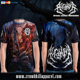 Official Acranius Reign Of Terror T-shirt - Crowdkill Apparel Death Metal Deathcore Hardcore Slam Merchandise