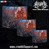 Official Acranius Reign Of Terror Giant Wall Flag - Crowdkill Apparel Death Metal Deathcore Hardcore Slam Merchandise