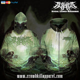 Official Acrania The Beginning of the End Zip-Up - Crowdkill Apparel Death Metal Deathcore Hardcore Slam Merchandise
