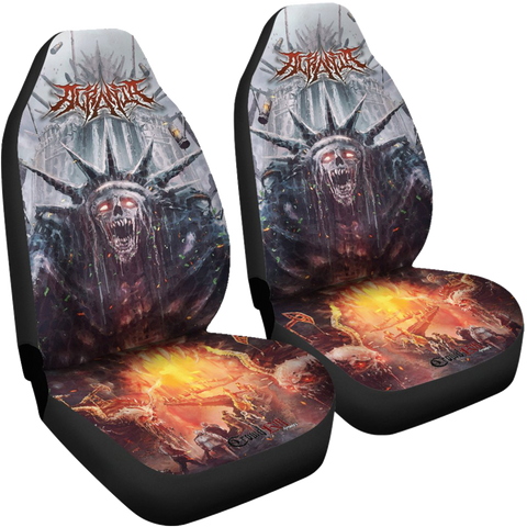 Official Acrania Tyrannical Hierarchy Car Seat Covers - Crowdkill Apparel Death Metal Deathcore Hardcore Slam Merchandise