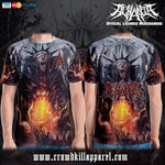 Official Acrania Tyrannical Hierarchy T-shirt - Crowdkill Apparel Death Metal Deathcore Hardcore Slam Merchandise