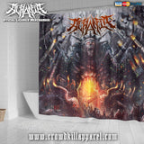 Official Acrania Tyrannical Hierarchy Shower Curtain - Crowdkill Apparel Death Metal Deathcore Hardcore Slam Merchandise