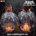 Official Acrania Tyrannical Hierarchy Zip-Up - Crowdkill Apparel Death Metal Deathcore Hardcore Slam Merchandise
