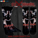 Official Slamentation Crawling Through The Morgue Socks - Crowdkill Apparel Death Metal Deathcore Hardcore Slam Merchandise