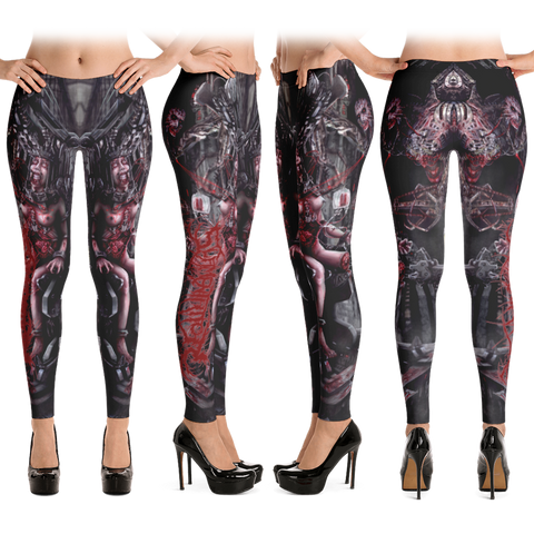Official Slamentation Procreating A New Body Art Leggings - Crowdkill Apparel