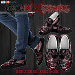 Official Slamentation Procreating A New Body Art Slip Ons - Crowdkill Apparel Death Metal Deathcore Hardcore Slam Merchandise