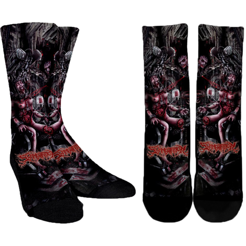 Official Slamentation Procreating A New Body Art Socks - Crowdkill Apparel Death Metal Deathcore Hardcore Slam Merchandise