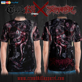 Official Slamentation Procreating A New Body Art All Over Print Tee - Crowdkill Apparel Death Metal Deathcore Hardcore Slam Merchandise