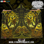 Official Bleeding Spawn Xenominions Hooded Blanket - Crowdkill Apparel Death Metal Deathcore Hardcore Slam Merchandise