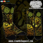 Official Bleeding Spawn Xenominions Socks - Crowdkill Apparel Death Metal Deathcore Hardcore Slam Merchandise