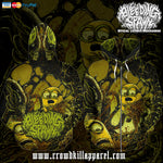 Official Bleeding Spawn Xenominions Zip-Up - Crowdkill Apparel Death Metal Deathcore Hardcore Slam Merchandise