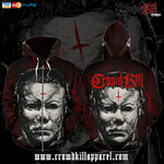 Official Crowdkill Apparel Halloween Beatdown Zip-Up - Crowdkill Apparel Death Metal Deathcore Hardcore Slam Merchandise