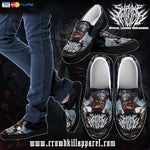 Official Shrine Of Malice Malignace Slip Ons - Crowdkill Apparel Death Metal Deathcore Hardcore Slam Merchandise