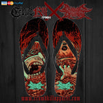 Official Cryogenic Defilement Slam Time Flip Flops - Crowdkill Apparel Death Metal Deathcore Hardcore Slam Merchandise