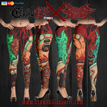Official Cryogenic Defilement Slam Time Leggings - Crowdkill Apparel Death Metal Deathcore Hardcore Slam Merchandise