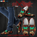 Official Cryogenic Defilement Slam Time Slip Ons - Crowdkill Apparel Death Metal Deathcore Hardcore Slam Merchandise