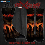 Official Gutrectomy Slamageddon Socks - Crowdkill Apparel Death Metal Deathcore Hardcore Slam Merchandise