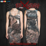 Official Harvest Misery Dress - Crowdkill Apparel Death Metal Deathcore Hardcore Slam Merchandise