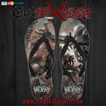 Official Harvest Misery Flip Flops - Crowdkill Apparel Death Metal Deathcore Hardcore Slam Merchandise