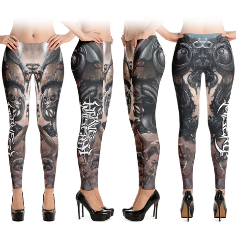 Official Harvest Misery Leggings - Crowdkill Apparel Death Metal Deathcore Hardcore Slam Merchandise