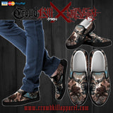 Official Harvest Misery Slip Ons - Crowdkill Apparel Death Metal Deathcore Hardcore Slam Merchandise