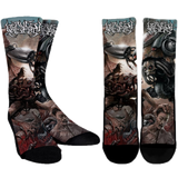 Official Harvest Misery Socks - Crowdkill Apparel Death Metal Deathcore Hardcore Slam Merchandise