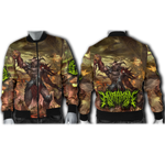 Official Hurakan Abomination Of Aurokos Bomber Jacket - Crowdkill Apparel Death Metal Deathcore Hardcore Slam Merchandise