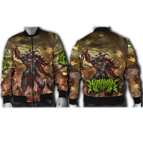 Official Hurakan Abomination Of Aurokos Bomber Jacket
