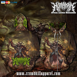 Official Hurakan Abomination Of Aurokos Zip-Up - Crowdkill Apparel Death Metal Deathcore Hardcore Slam Merchandise
