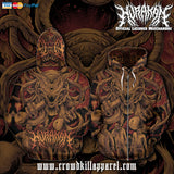 Official Hurakan Xenometh Zip-Up - Crowdkill Apparel Death Metal Deathcore Hardcore Slam Merchandise