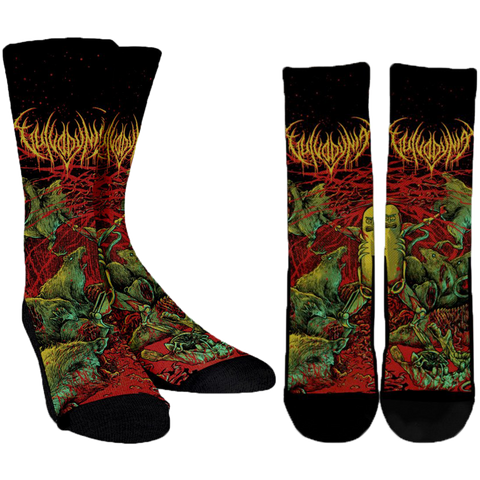 Official Vulvodynia Pickle Rick Socks - Crowdkill Apparel