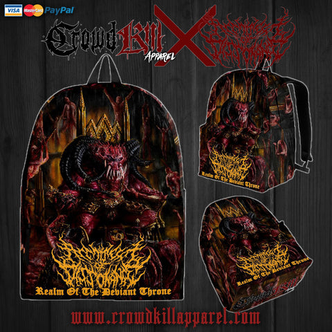 Official Architect Of Dissonance Realm Of The Deviant Throne Slampack - Crowdkill Apparel Death Metal Deathcore Hardcore Slam Merchandise