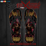 Official Architect Of Dissonance Realm Of The Deviant Throne  Flip Flops - Crowdkill Apparel Death Metal Deathcore Hardcore Slam Merchandise