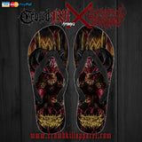 Official Architect Of Dissonance Realm Of The Deviant Throne  Flip Flops - Crowdkill Apparel