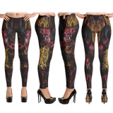 Official Architect Of Dissonance Realm Of The Deviant Throne Leggings - Crowdkill Apparel Death Metal Deathcore Hardcore Slam Merchandise