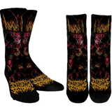 Official Architect Of Dissonance Realm Of The Deviant Throne Socks - Crowdkill Apparel Death Metal Deathcore Hardcore Slam Merchandise