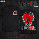 """Snake Eyes"" Tee (Preorder) - Crowdkill Apparel Death Metal Deathcore Hardcore Slam Merchandise"