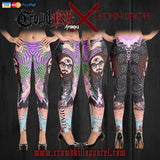 Official Technopath Leggings - Crowdkill Apparel Death Metal Deathcore Hardcore Slam Merchandise