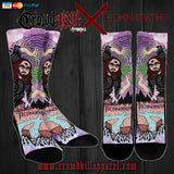 Official Technopath Socks - Crowdkill Apparel Death Metal Deathcore Hardcore Slam Merchandise
