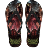 Official Architect Of Dissonance Vile Mechanical Origin Of Human Virulency Flip Flops - Crowdkill Apparel Death Metal Deathcore Hardcore Slam Merchandise