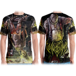 Official Vulvodynia  Psychosadistic Design All Over Print Tee - Crowdkill Apparel Death Metal Deathcore Hardcore Slam Merchandise