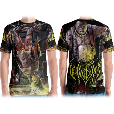 Official Vulvodynia  Psychosadistic Design All Over Print Tee