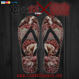 Official Xavleg Gore 2.0 Flip Flops - Crowdkill Apparel