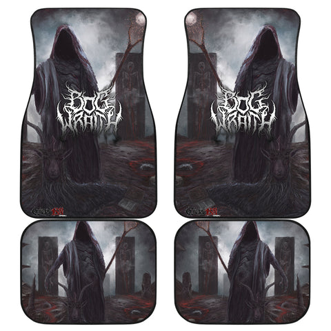 Official Bog Wraith All Hail Car Floor Mats - Crowdkill Apparel Death Metal Deathcore Hardcore Slam Merchandise